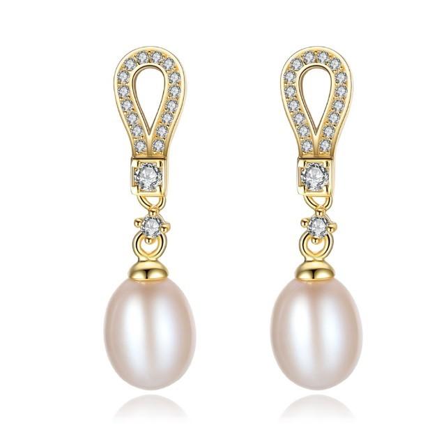 Cercei Din Argint Miriam Cu Perle Naturale