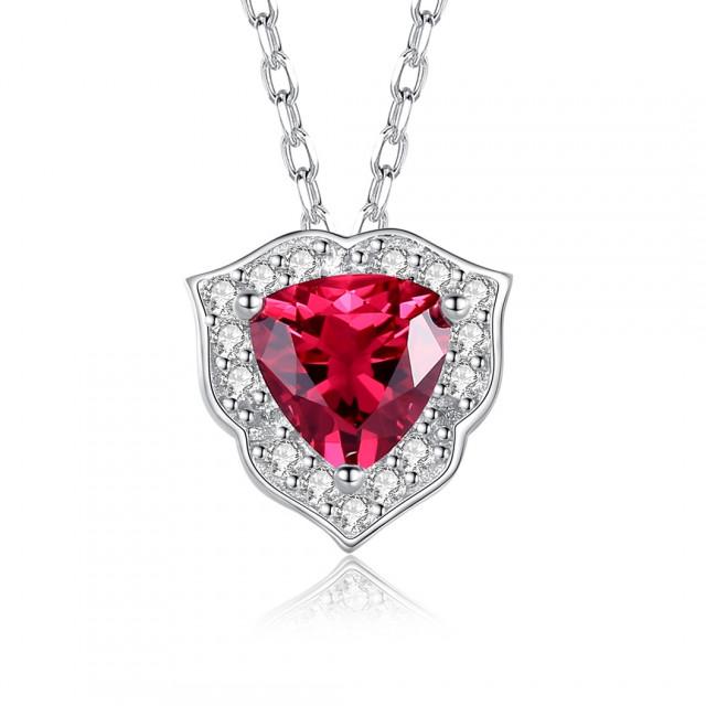 Colier Din Argint Atena Ruby