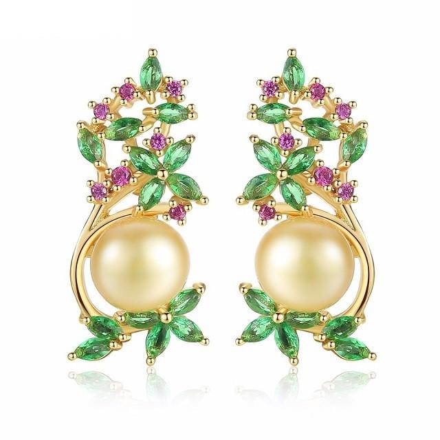 Cercei Cu Perle Naturale Aurii J'adore