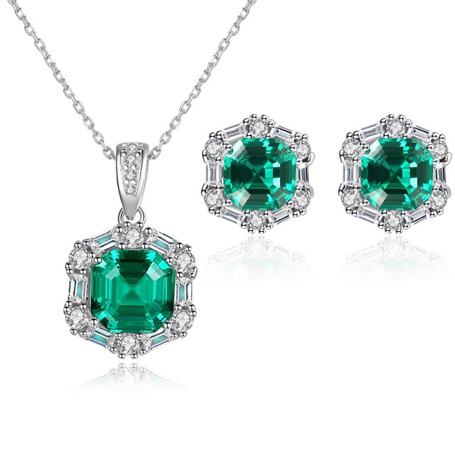 Set Bijuterii Argint Lady Emerald
