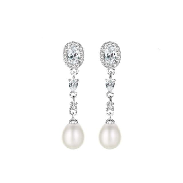 Cercei Din Argint Andrea Cu Perle Naturale