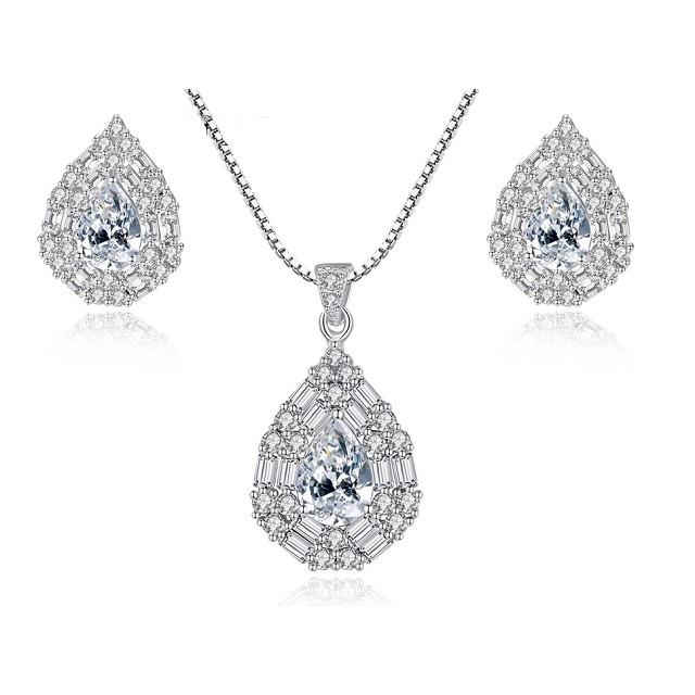 Chance Set Bijuterii Argint Dama Cu Cristale
