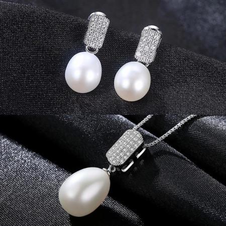 set perle naturale albe merida