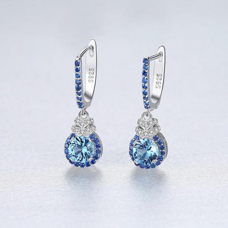 cercei piatra albastra Anastasia