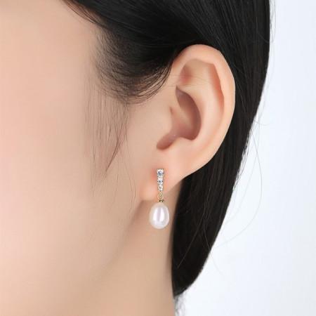 Cercei cu perle naturale Mariah