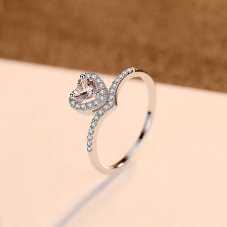 Inel argint Romance