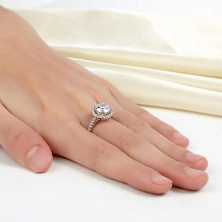 Inel logodna argint Lara
