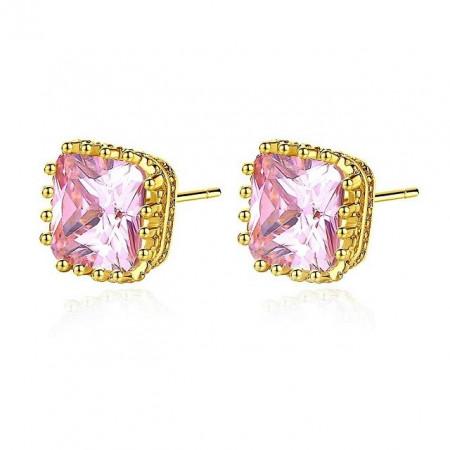 Relia Cercei Aurii Cristale Roz