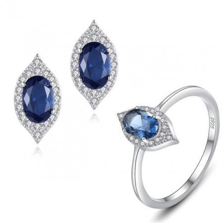 set argint albastru