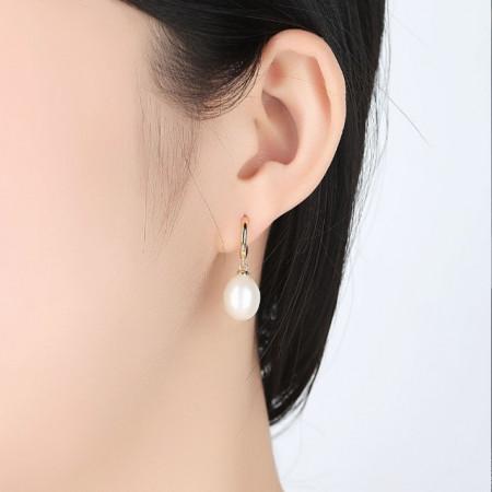 Cercei din argint Bianca cu perle naturale