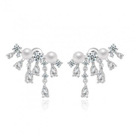 Cercei eleganti cu perle Aurelia