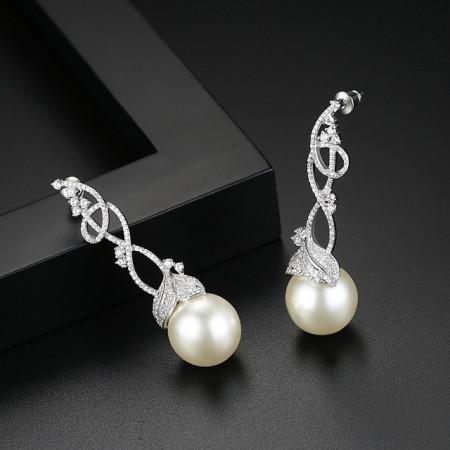Cercei candelabru cu perle Pure Grace