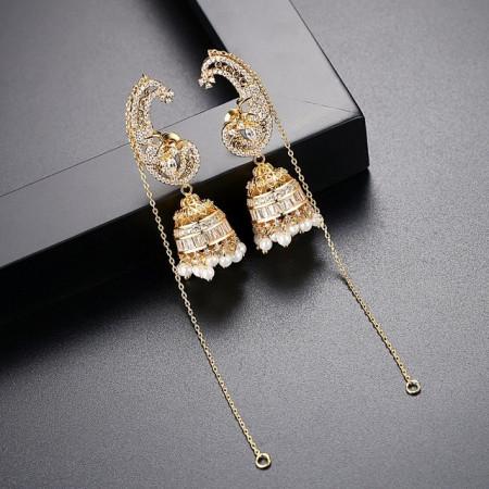 Cercei lungi aurii Lalique
