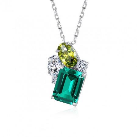 coliere argint esmeralda