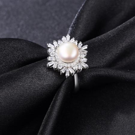 Inel din argint cu perla naturala Vittoria