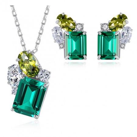 set bijuterii argint Esmeralda