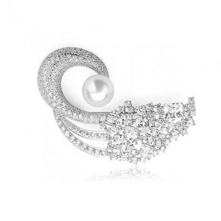 Brosa eleganta cu perle Francesca