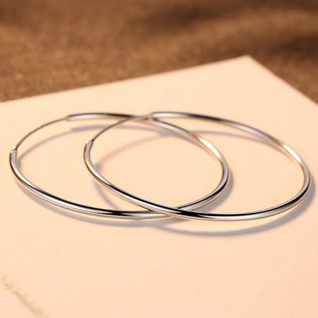 Cercei argint rotunzi Eva - 5 cm