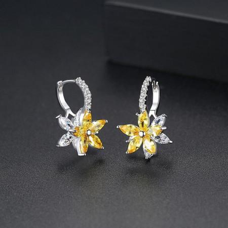 Cercei floare galbeni Narcisse