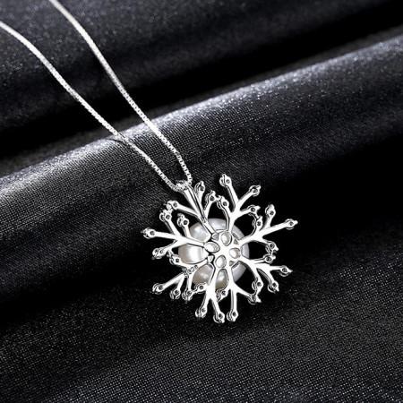 Colier argint cu perla naturala Princess