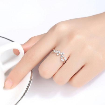 Inel argint reglabil Azalea