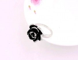 Inel Black Rose