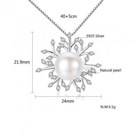Set perle naturale din argint Princess