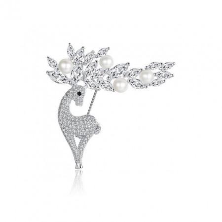 Brosa Argint 925 cu perle naturale Luana