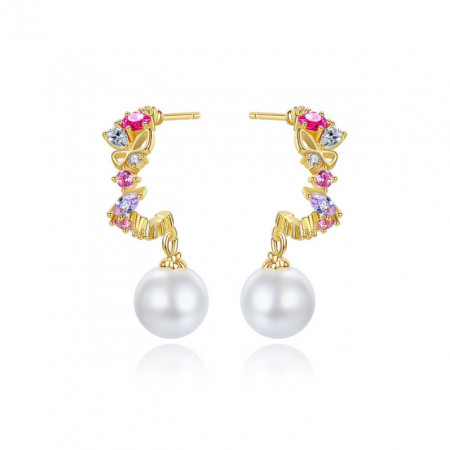 cercei colorati cu perle