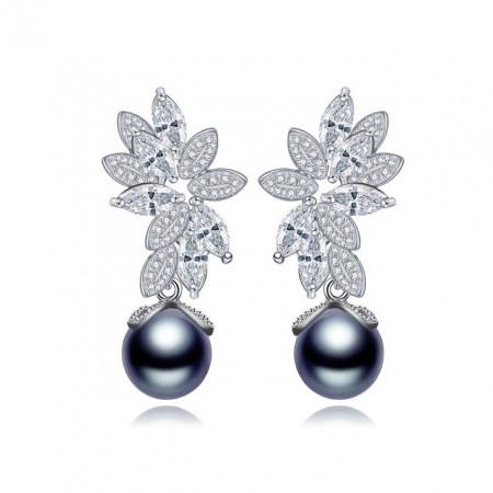 Cercei cu perle negre Mystic Dark Pearl