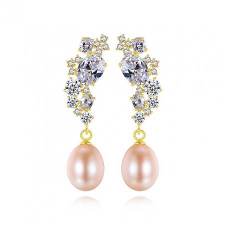 Cercei perle roz Persis