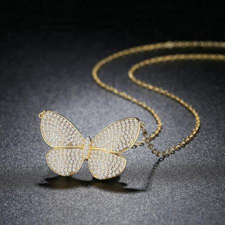 colier fluture auriu