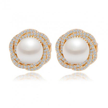 cercei perle auriu