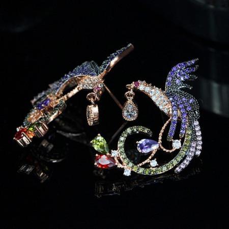 Cercei cu cristale Pasare Maiastra