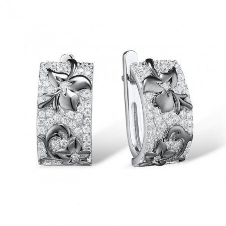 Cercei din argint floare