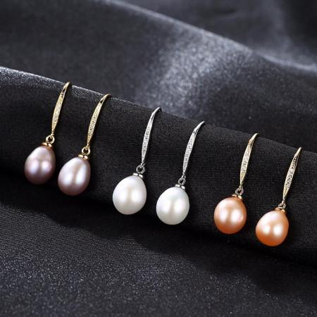 Cercei perle naturale mov Daniela