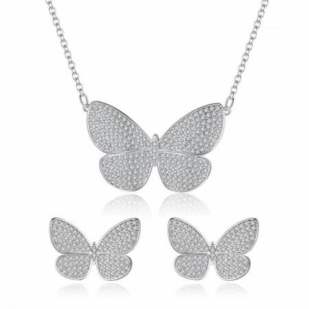 set bijuterii fluture