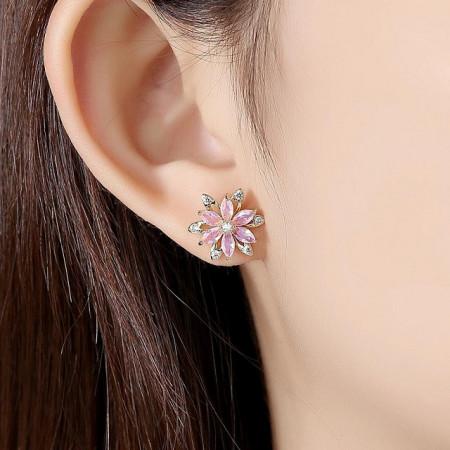 Cercei roz floare