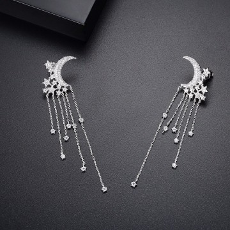 Cercei chandelier cu stele si luna La Nuit