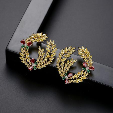 cercei aurii eleganti afrodita