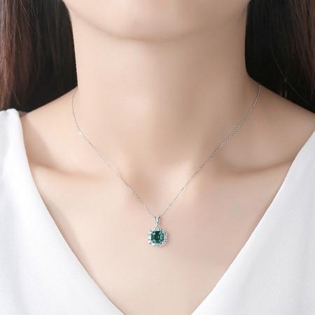 colier argint lady emerald