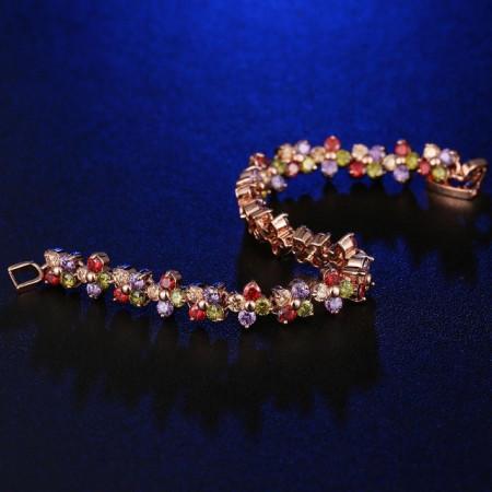 Bratara cu cristale multicolore Primrose