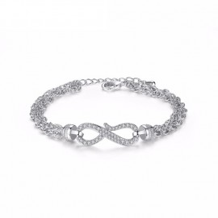 Bratara Infinity Crystals