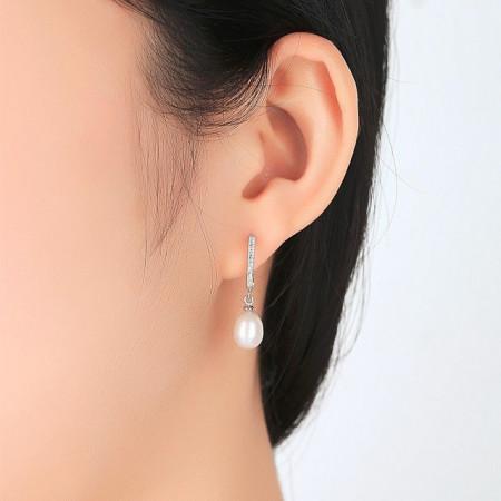 Cercei din argint Annabelle cu perle naturale