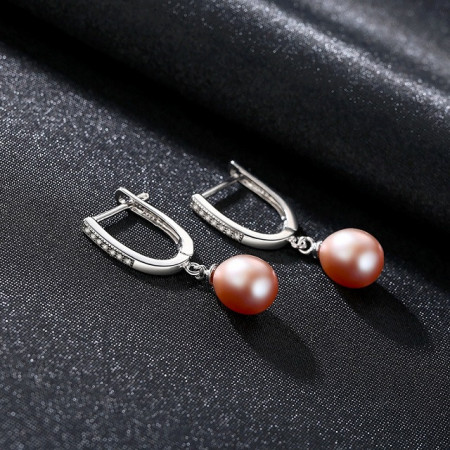 Cercei argint perle Annabelle