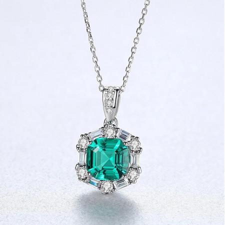 pandantiv argint lady emerald