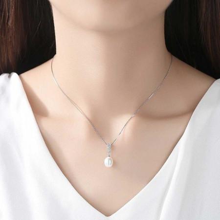 Colier perle argint Elsie