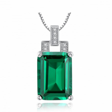 colier argint verde
