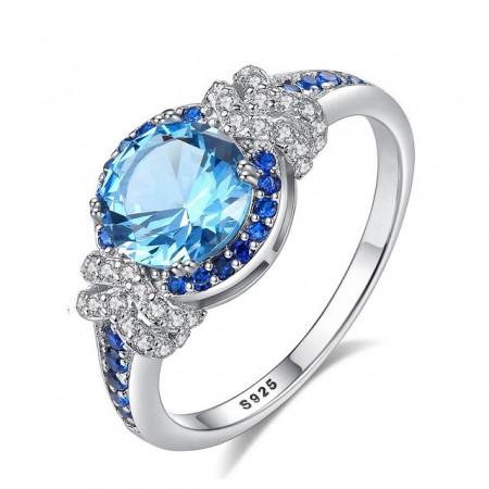 Inel Argint cu pietre albastre Idylle