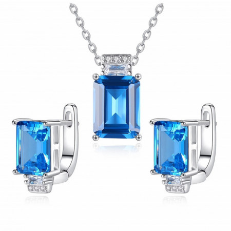 set bijuterii albastre
